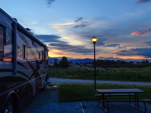 Sunset at Apple Orchards RV Park
