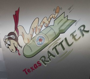 Rattler Bomber Replica in the welcome center