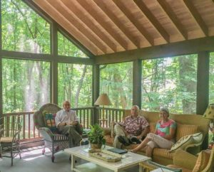 Dave and Martha Bloom's lovely screened porch