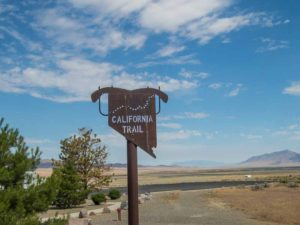 The California Trail in Nevada. We are glad our Conestoga Wagon has 400 horses